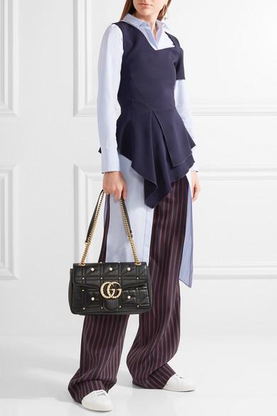d15c03f5938 GG Marmont 2.0 medium embellished quilted leather shoulder bag