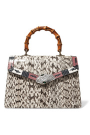 Gucci Lilith Bamboo medium embellished elaphe tote