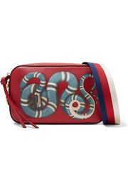 Gucci Merveilles small printed textured-leather shoulder bag