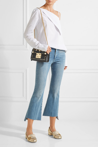 62f46ce263 Padlock small faux pearl-embellished studded leather shoulder bag