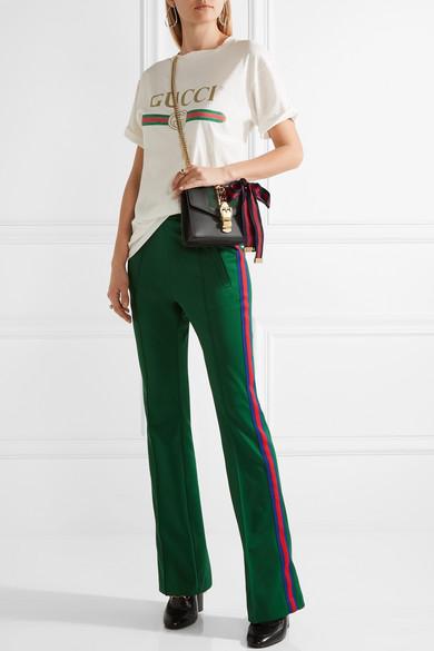 214b730426a Sylvie mini chain-embellished leather shoulder bag