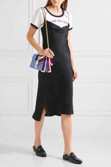153ddc09891ad Sylvie mini chain-embellished leather shoulder bag