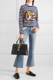 Gucci Sylvie medium chain-embellished leather tote