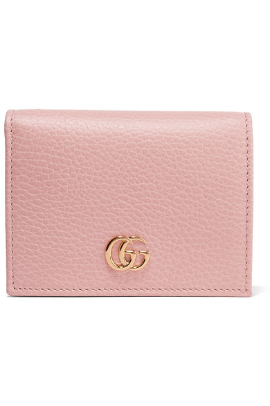 Gucci - Textured-leather Wallet - Pastel pink