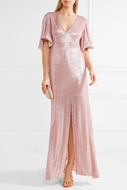 Temperley London Stardust open-back sequined chiffon gown