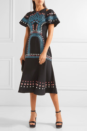 Temperley London Juniper cutout embroidered crepe dress