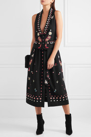 Temperley London Juniper cutout embroidered crepe vest