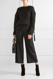 Temperley London Opus cropped button-detailed twill wide-leg pants