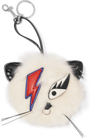 Stella McCartney Ziggy Stardust appliquéd faux fur keychain