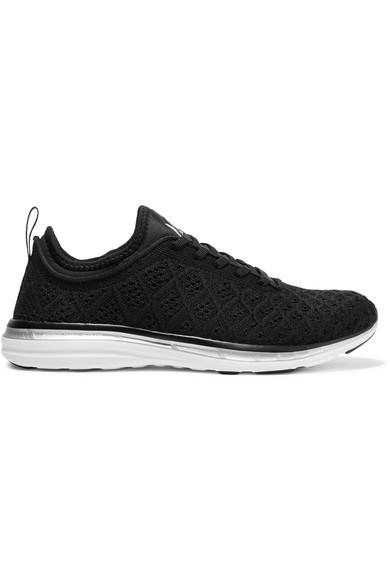 APL ATHLETIC PROPULSION LABS Techloom Phantom Knit Mesh Sneakers in Black