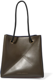 Cube small two-tone leather shoulder bag