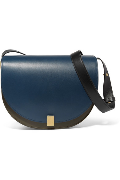 victoria beckham female victoria beckham half moon box leather shoulder bag navy