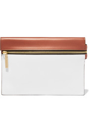 Victoria Beckham Small two-tone leather clutch