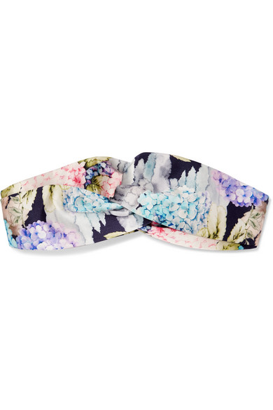 gucci female gucci twisted floralprint silksatin headband pink