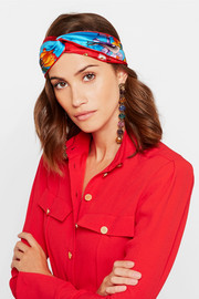 Gucci Printed silk-twill headband