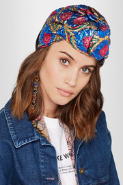 Gucci Twisted metallic floral-jacquard headband