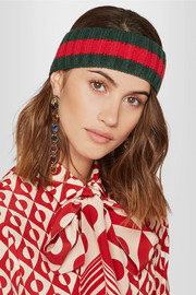 Gucci Embellished wool-blend headband