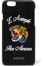 Gucci Tiger L'Aveugle coated-canvas iPhone 6 case