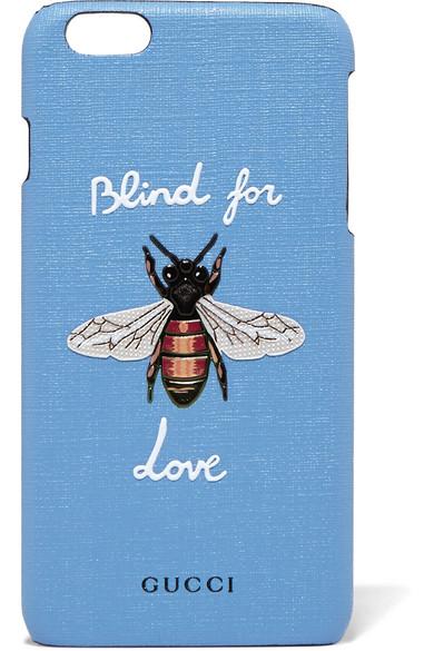 gucci female gucci blind for love printed coatedcanvas iphone 6 plus case light blue
