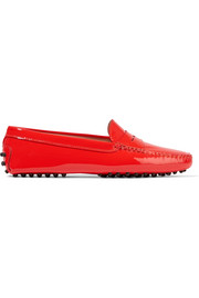 Gommino patent-leather loafers