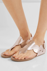 Pedro Garcia Jamee metallic textured-leather sandals
