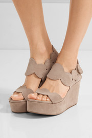 Pedro Garcia Dyane suede wedge sandals