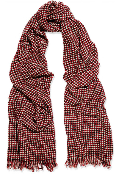 Checked cashmere scarf Isabel Marant VAJuobL