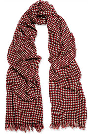 Étoile Isabel Marant Frayed wool and cashmere-blend scarf