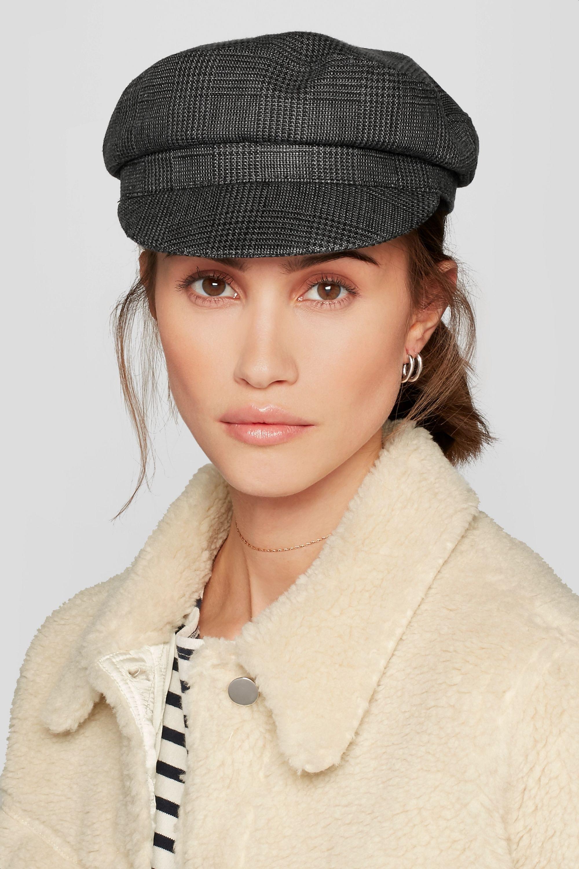 Isabel Marant Étoile Evie Hut aus Leinen mit Glencheck-Muster