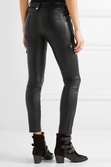 frame moto leather skinny pants net a porter com. Black Bedroom Furniture Sets. Home Design Ideas