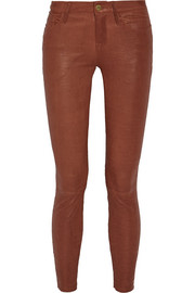 Skinny de Jeanne leather pants