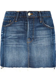 Le Mini Mix denim skirt