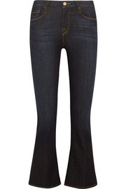 Crop Mini mid-rise bootcut jeans