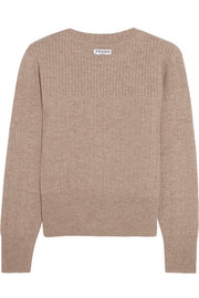 Accordian ribbed wool and cashmere-blend sweater