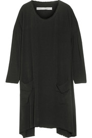 Raquel Allegra Asymmetric crepe dress