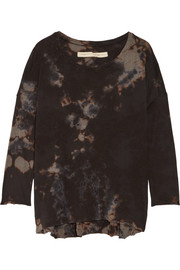 Raquel Allegra Tie-dyed cotton-blend jersey top