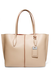 Joy medium textured-leather tote