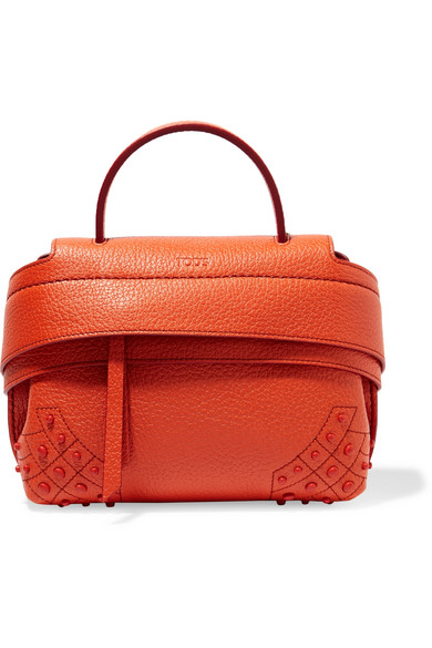 Tod's - Wave Micro Textured-leather Tote - Orange
