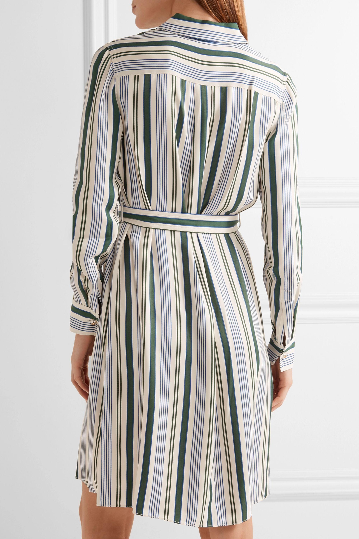 Tory Burch Villa striped satin-twill dress