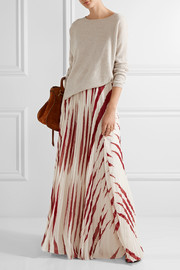 Tory Burch Lucea printed crinkled-chiffon maxi skirt