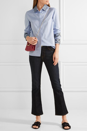 Tory Burch Keegan embroidered cotton-chambray shirt