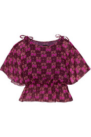 Printed silk-georgette blouse