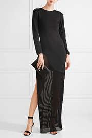 Josephine jersey and stretch-knit gown