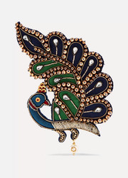 Gucci Embellished satin and acetate brooch
