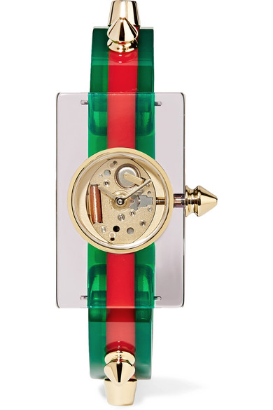 Gucci - Plexiglass And Gold-tone Watch - Red