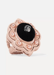 Gucci Resin, velvet and faux pearl ring