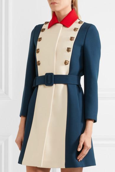 bac7fe209 Gucci   Embellished color-block wool coat   NET-A-PORTER.COM