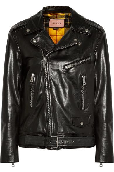 Gucci Bedruckte Bikerjacke aus Leder Freies Verschiffen Countdown-Paket Billig Verkauf Neueste Freies Verschiffen Visum Zahlung Verkauf Footlocker Lieferung Frei Haus Mit Paypal ACf37
