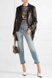 Gucci Fringed leather biker jacket