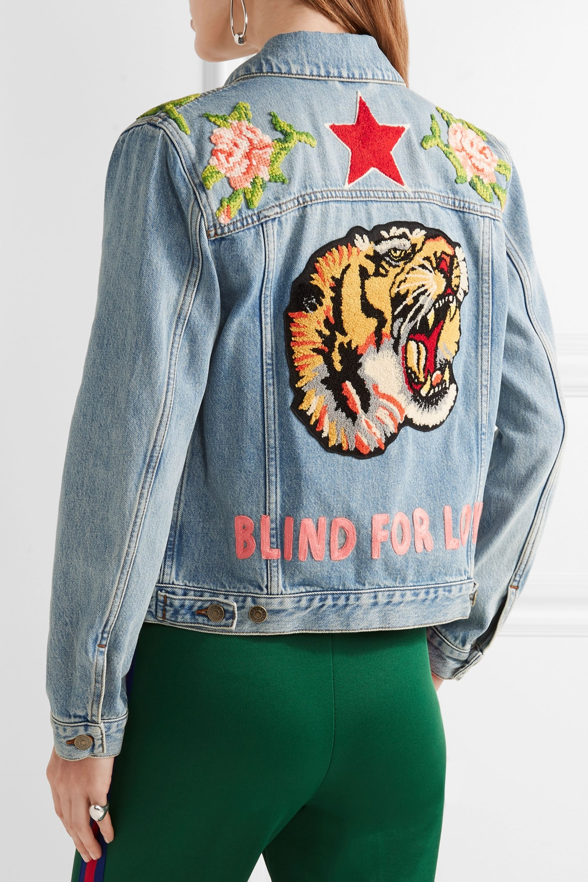 Gucci Appliquéd denim jacket